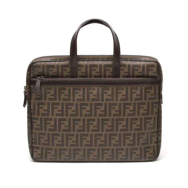 Item - Brown Coated Canvas Laptop Bag