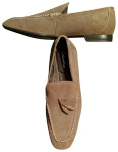 Calvin Klein Mens Size 12 Driving Loafer New Taupe Flats