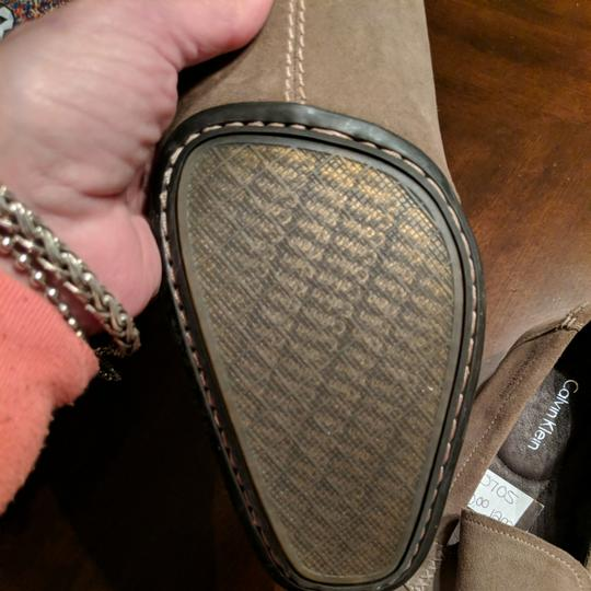 Calvin Klein Mens Size 12 Driving Loafer New Taupe Flats Image 8