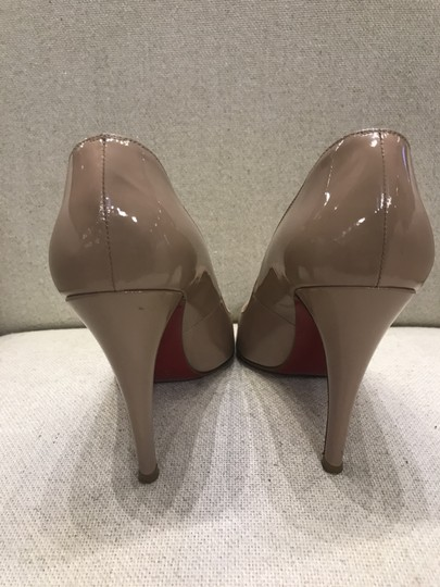 Christian Louboutin Classic Leather Heel Nude Pumps Image 1