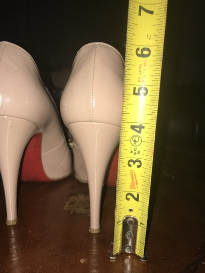 Christian Louboutin Classic Leather Heel Nude Pumps Image 5