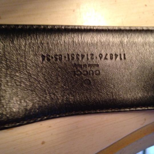 Gucci Gucci belt with traditonal pattern in light tan size 36