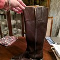 Italian Shoemakers Equestrian Size 8.5 Leather Tall New Brown Boots Image 11