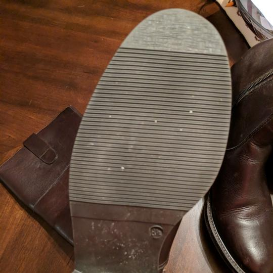 Italian Shoemakers Equestrian Size 8.5 Leather Tall New Brown Boots Image 4