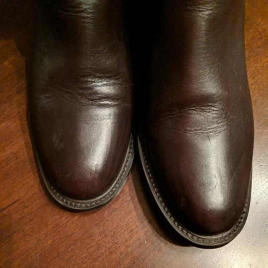Italian Shoemakers Equestrian Size 8.5 Leather Tall New Brown Boots Image 7