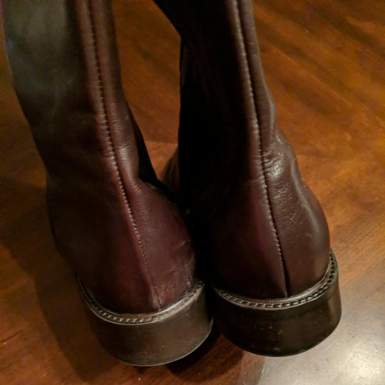 Italian Shoemakers Equestrian Size 8.5 Leather Tall New Brown Boots Image 8