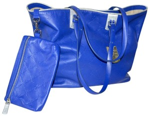 Longchamp Cuir Leather Tote in Cobalt Blue