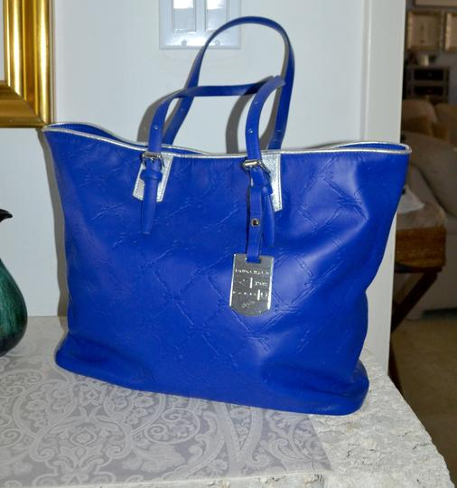 Longchamp Cuir Leather Tote in Cobalt Blue Image 1