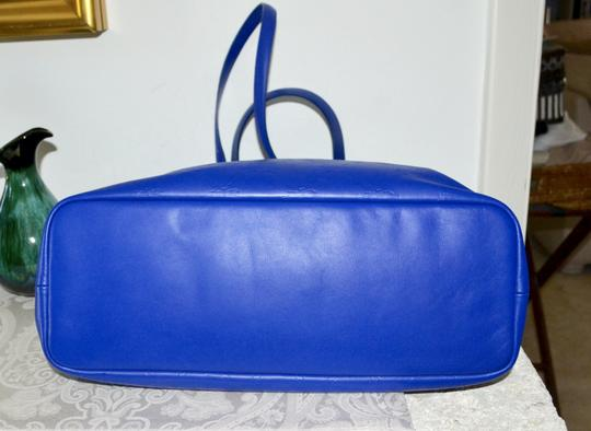 Longchamp Cuir Leather Tote in Cobalt Blue Image 3