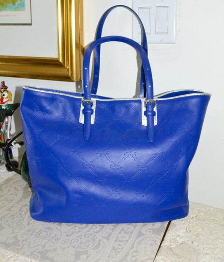 Longchamp Cuir Leather Tote in Cobalt Blue Image 4