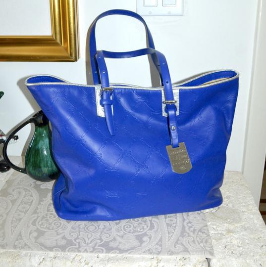 Longchamp Cuir Leather Tote in Cobalt Blue Image 5
