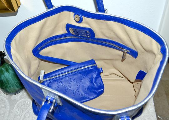 Longchamp Cuir Leather Tote in Cobalt Blue Image 6