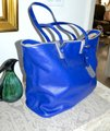 Longchamp Cuir Leather Tote in Cobalt Blue Image 7