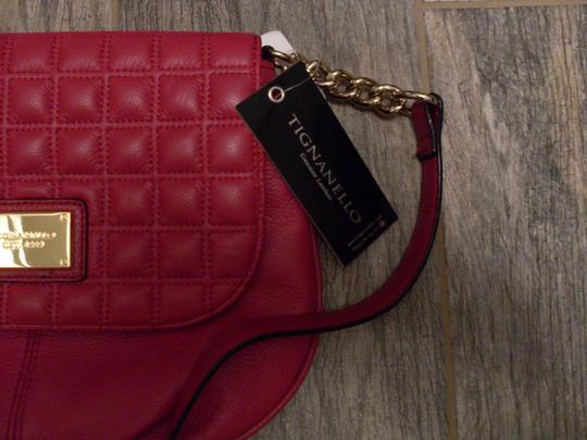 Tignanello Leather Quilted Cross Body Bag Image 1