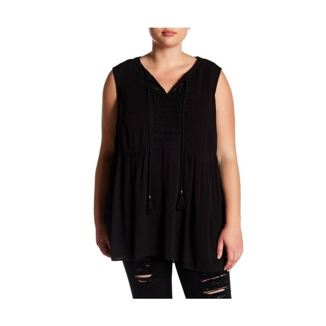 Preload https://img-static.tradesy.com/item/22877196/daniel-rainn-black-dr2-by-sleeveless-front-tassel-knit-blouse-tank-topcami-size-20-plus-1x-0-0-650-650.jpg