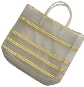 Miu Miu Mesh Yellow Beach Bag