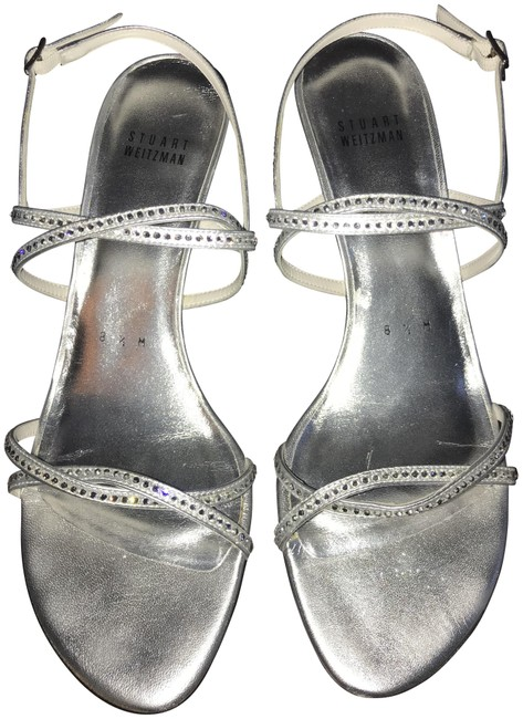 Item - Silver Wattage Supple Kid Diamon Strappy Sandals Iw02882 Formal Shoes Size US 8.5 Regular (M, B)