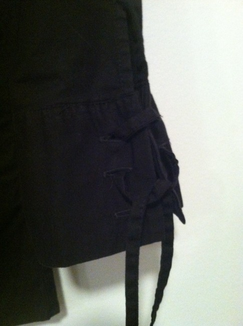 Anne Fontaine Made In France Lace Up Top black cotton Image 5