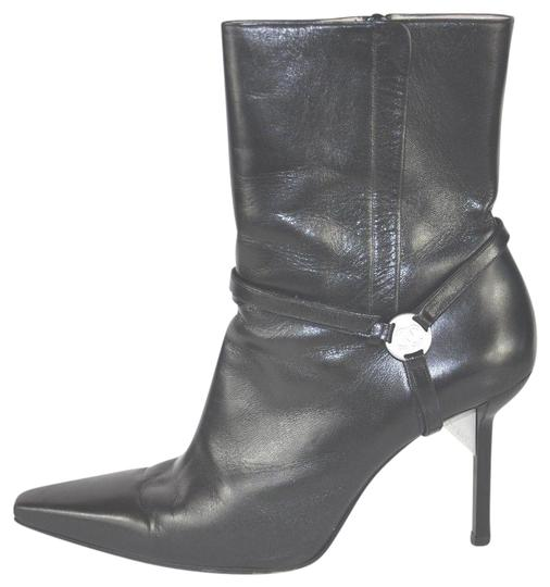Preload https://img-static.tradesy.com/item/22877287/chanel-black-leather-pointy-toe-silver-tone-logo-detail-bootsbooties-size-eu-41-approx-us-11-regular-0-1-540-540.jpg