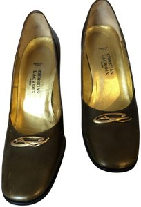 Christian Lacroix Vintage Leather Gold Metallic Pumps