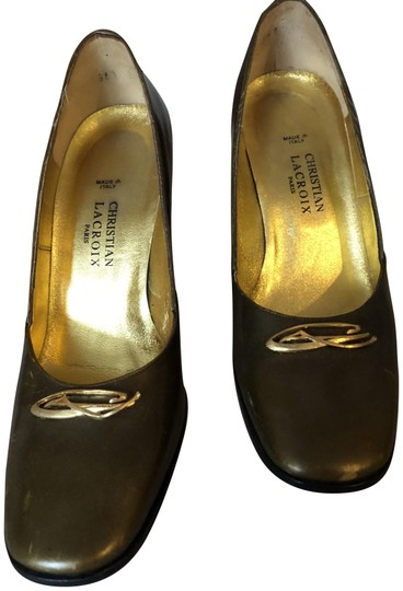 Preload https://img-static.tradesy.com/item/22877370/christian-lacroix-gold-metallic-vintage-pumps-size-eu-37-approx-us-7-regular-m-b-0-1-540-540.jpg