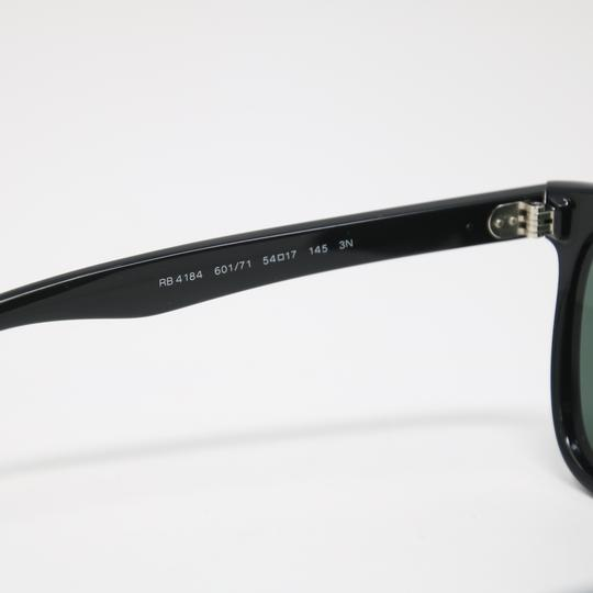 32e7eda608 Ray Ban Rb4161 Sunglasses Black Crystal Frame Green Polarized Lens ...