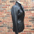 Old Navy Longsleeve Notched Collar Fitted Leather Jacket Image 2