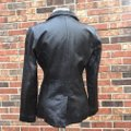 Old Navy Longsleeve Notched Collar Fitted Leather Jacket Image 3