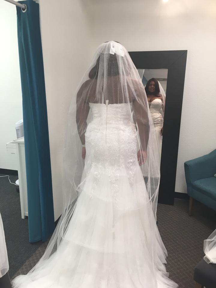 7d4e21432e7 Alfred Angelo Ivory Satin Tulle Style Number 984 Modern Wedding Dress Size  14 (L). 12345678