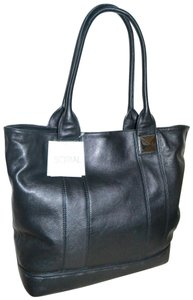 SORIAL Leather Pyramid Stud Jenna Tote in Black