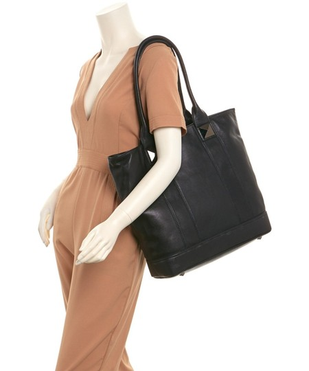 Sorial Leather Pyramid Stud Jenna Tote in Black Image 1