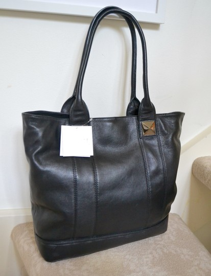 Sorial Leather Pyramid Stud Jenna Tote in Black Image 2