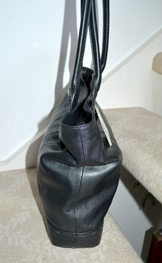 Sorial Leather Pyramid Stud Jenna Tote in Black Image 4