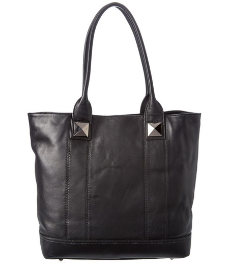 Sorial Leather Pyramid Stud Jenna Tote in Black Image 5