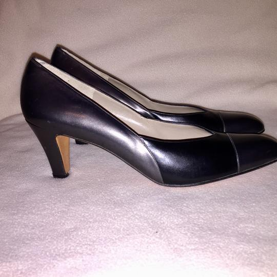 Salvatore Ferragamo Gunmetal & Black Pumps Image 2