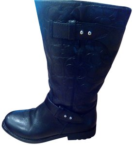 Coach Black Leather Coach Boots Boots
