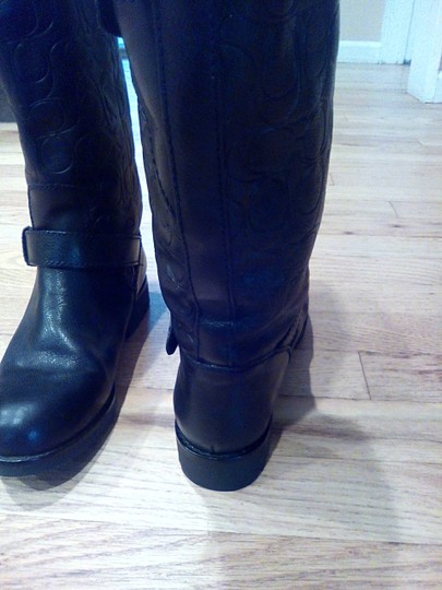 Coach Black Leather Coach Boots Boots Image 1