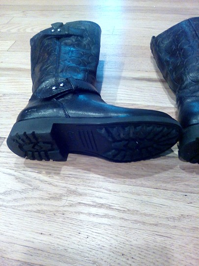 Coach Black Leather Coach Boots Boots Image 6