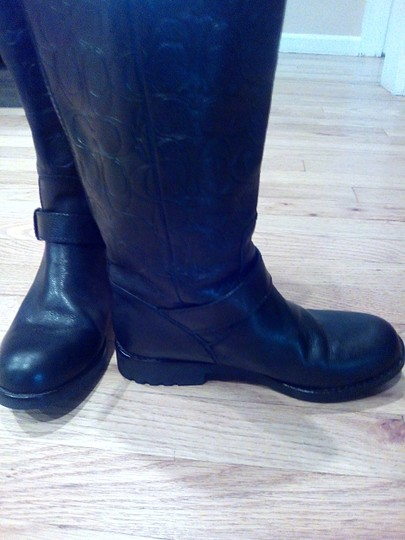 Coach Black Leather Coach Boots Boots Image 7