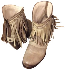 FREEBIRD by Steven Leather Fringed Stone Boots