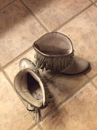 FREEBIRD by Steven Leather Fringed Stone Boots Image 2