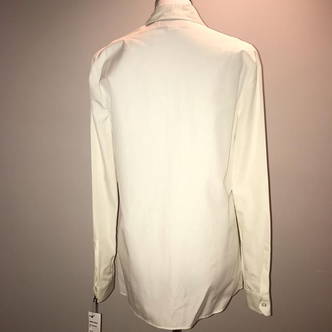 Gucci Blouse Embroidered Button Down Shirt White Image 7