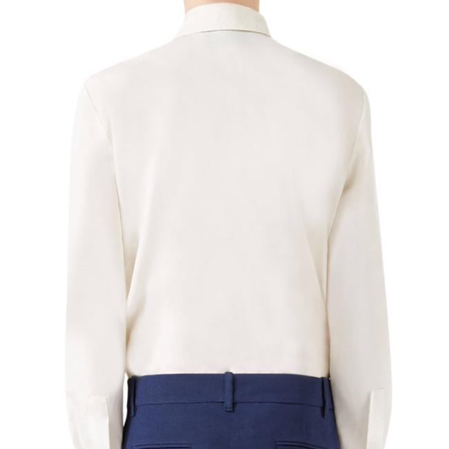 Gucci Blouse Embroidered Button Down Shirt White Image 8