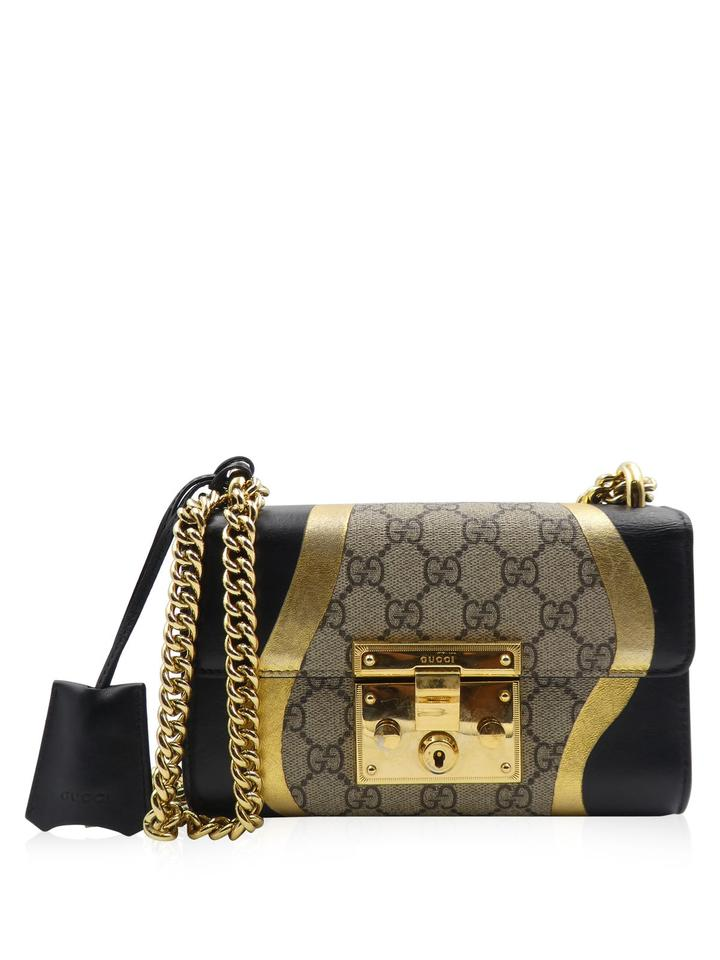 575d627bad8a40 Gucci Supreme Coated Canvas Leather Metallic Cross Body Bag Image 0 ...