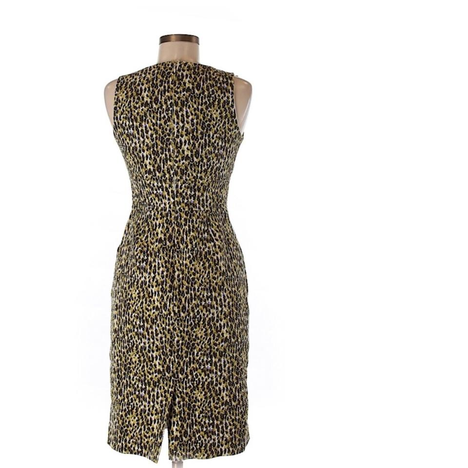 Dress Leopard Crew J Fabiola In Short Abstract Casual IUIBx1