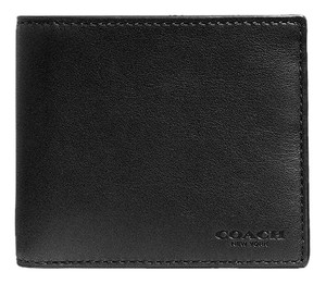 Coach Double Billfold Wallet In Sport Calf Leather