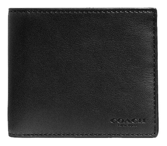 Preload https://img-static.tradesy.com/item/22877905/coach-black-double-billfold-in-sport-calf-leather-wallet-0-1-540-540.jpg