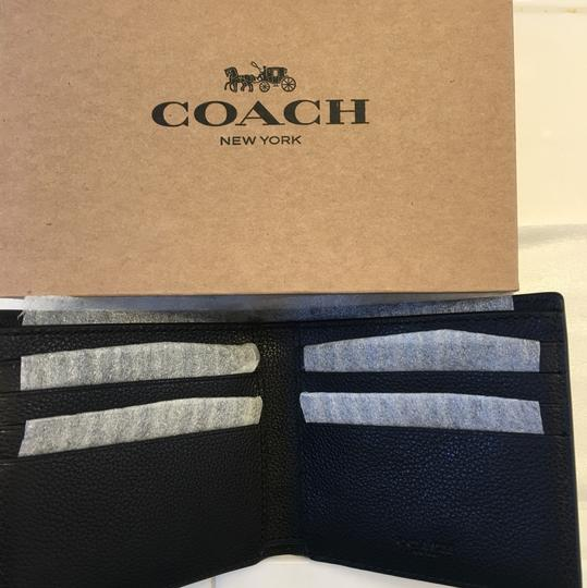 Coach Double Billfold Wallet In Sport Calf Leather Image 2