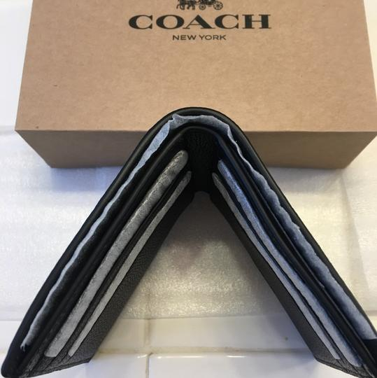 Coach Double Billfold Wallet In Sport Calf Leather Image 3