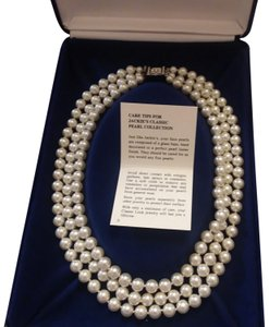 Camrose & Kross Jacqueline Kennedy collection Triple Strand Pearl necklace